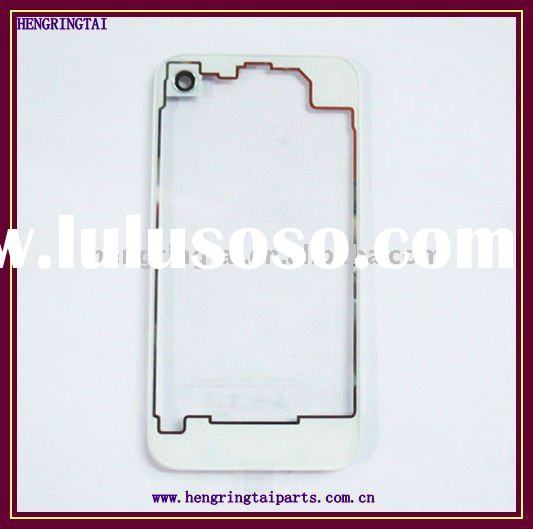 for iPhone 4 Detachable Bumper and Transparent Plastic Back Plate Hard Case Cover