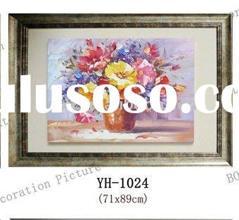 hand made oil painting flower picture