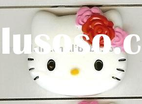 hello kitty with flower on head