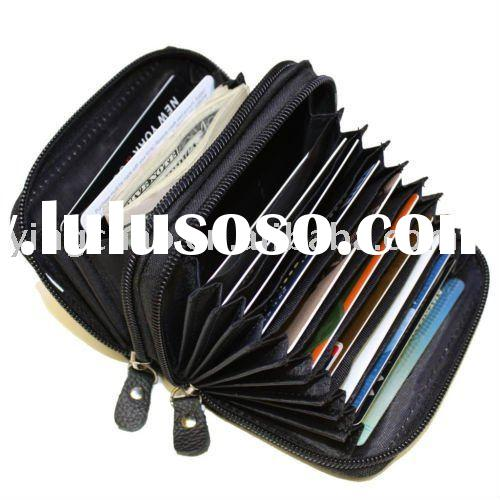 high capacity credit card holder, wallet organizer,zippered wallet