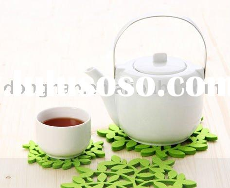 high quality ceramic/porcelain tea pot with stainless steel handle