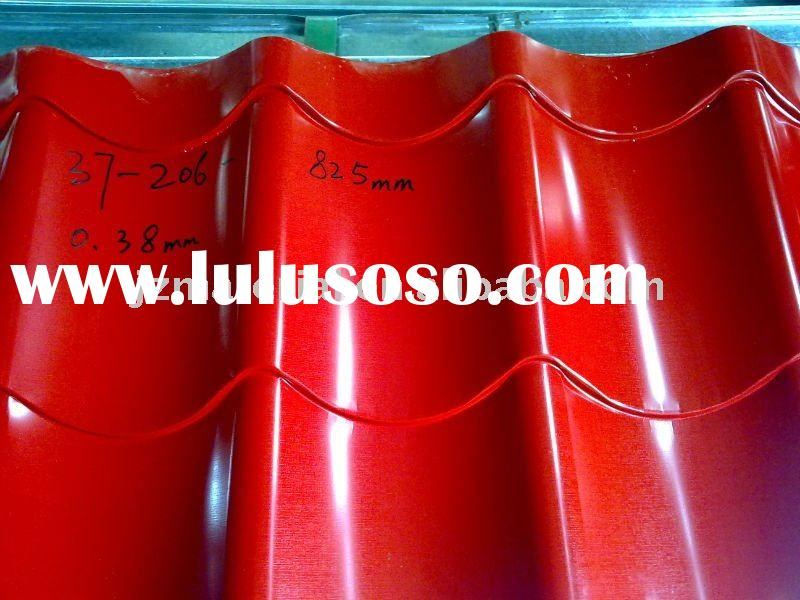 hot colored tile roofing sheet/corrugated roofing sheet/ridge tile sheet