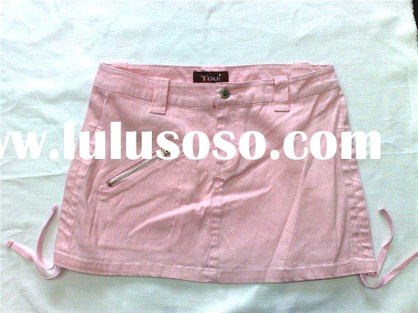 lady/missy Fashion pink short skirt ,Cute Lady Skirt,ladies short skirt