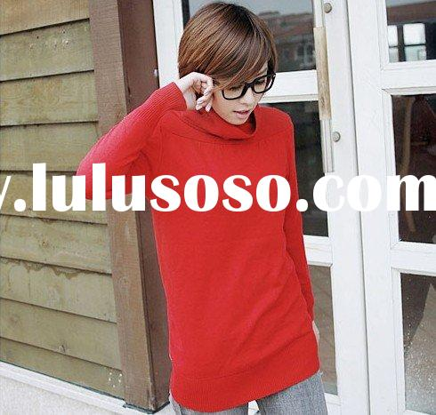 lady's fashion sweater,high collar pullover knitwear [bk192301]