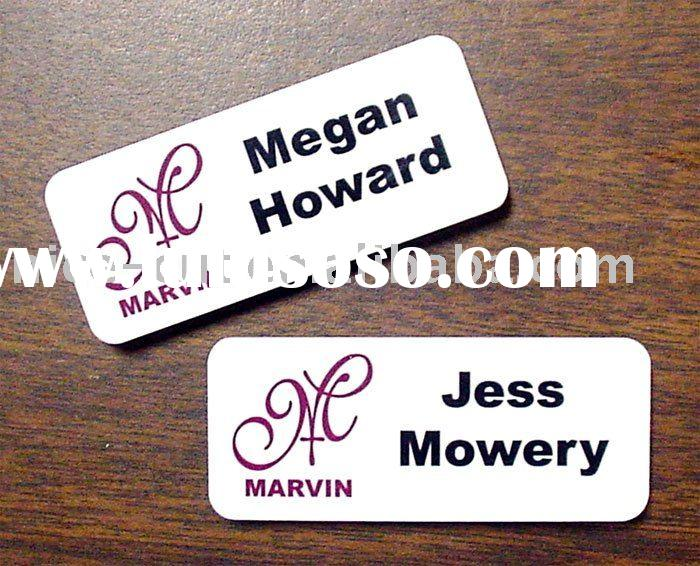 plastic engraving machine name tags
