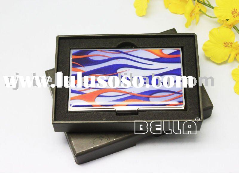 metal name card holder with gift set box