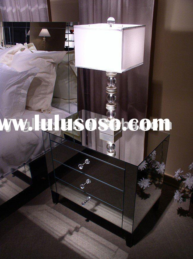 mirror nightstand,glass nightstand,mirror bed table-BoA
