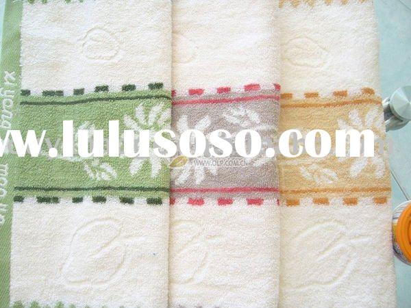 new style 2011 year hotel jacquard 100% cotton bath towel (t10120)
