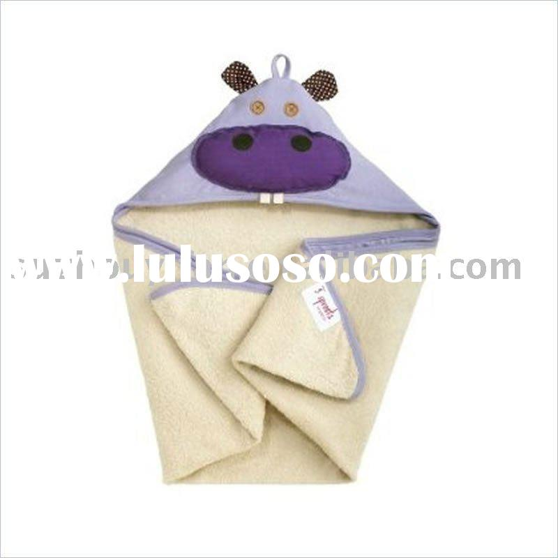 organic cotton/bamboo& cotton hooded baby towel BC-BR1192