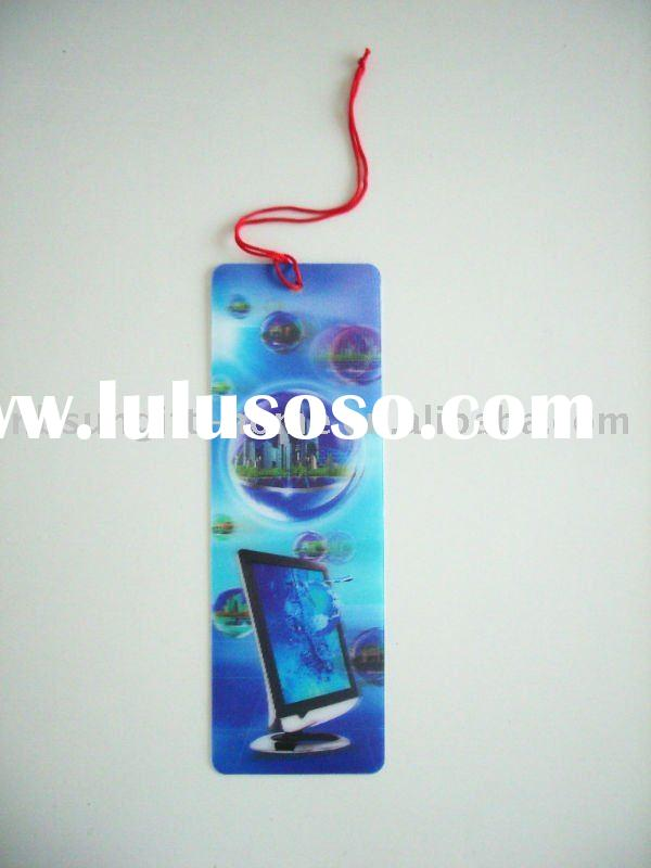 plastic 3D bookmark
