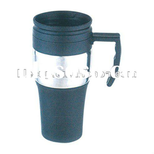 plastic insulated travel mugs with handle