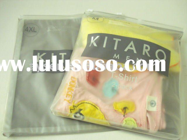 plastic pvc packaging bags for clothing with zipper