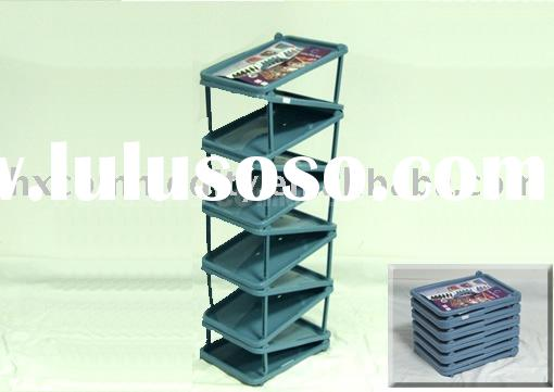 plastic shoe rack (HX0006882) shoe shelf /shoe storage rack /shoe organizer