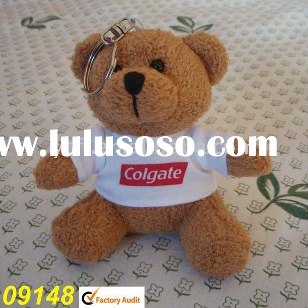 plush Teddy Bear,wearing T-Shirt with Key chain -09148