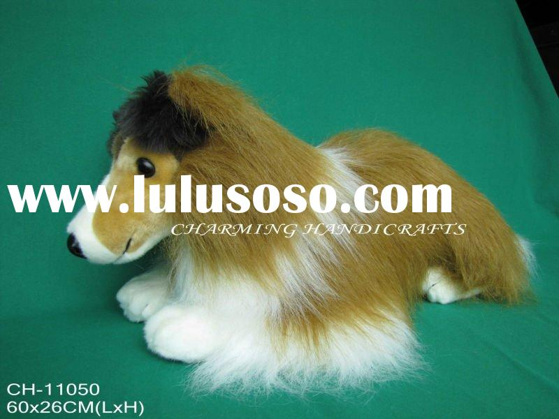 plush toy dog collie, stuffed soft collie dog toy
