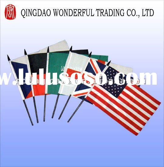 polyester hand stick flags for sport games