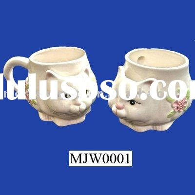 porcelain cat teabag holder,mugs,cups