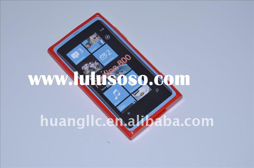 red TPU mobile phone case for Nokia Lumina 800