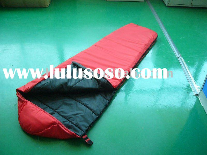 red mummy sleeping bag