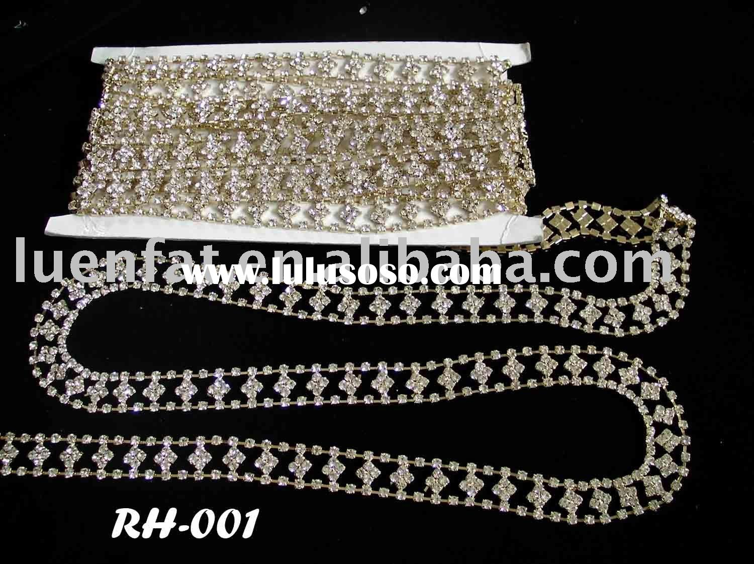 rhinestone trimming,crystal trimming,cup chain
