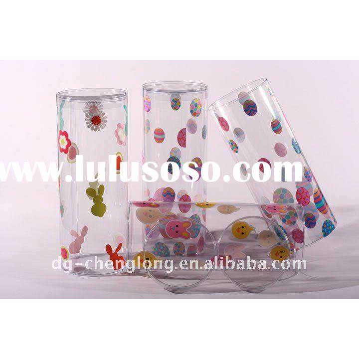small clear plastic candy cylinder tube
