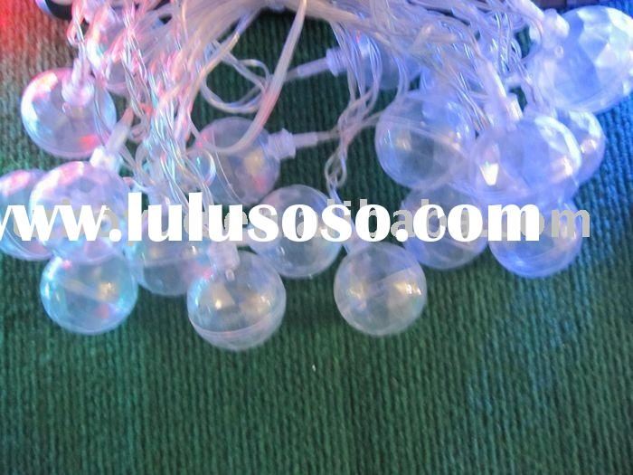 solar led christmas light with transparent round ball