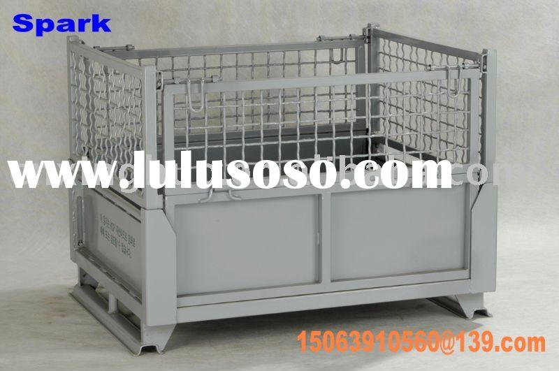 stackable steel mesh box pallet/metal container