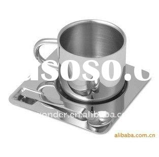 stainless steel coffee cup with different capability and double wall