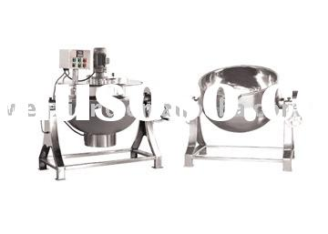 stainless steel jacketed kettle(cooking pot,steam cook kettle,double layer pot.steam jacketed kettle