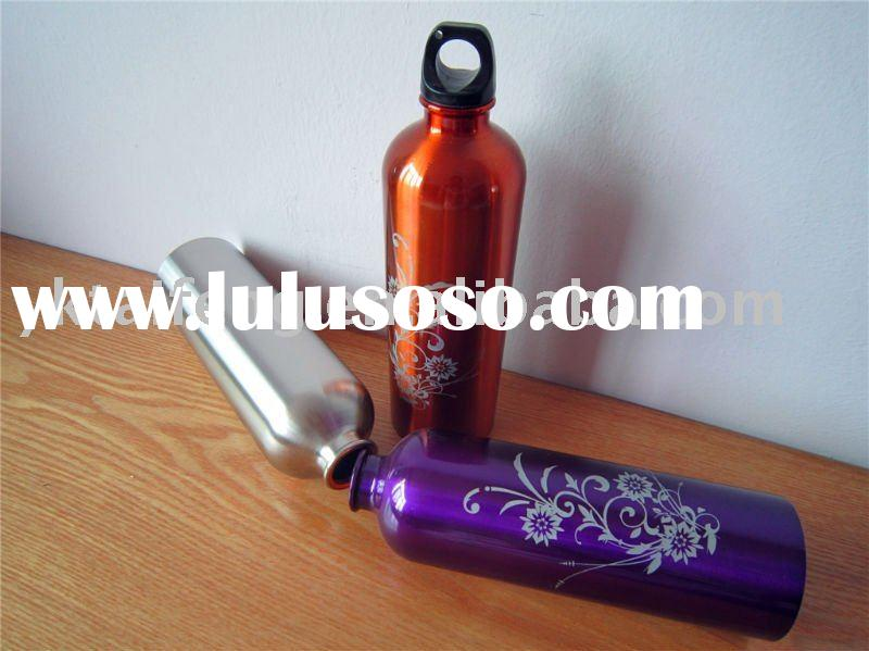 stainless steel sport water bottle with screw-top loop & clip