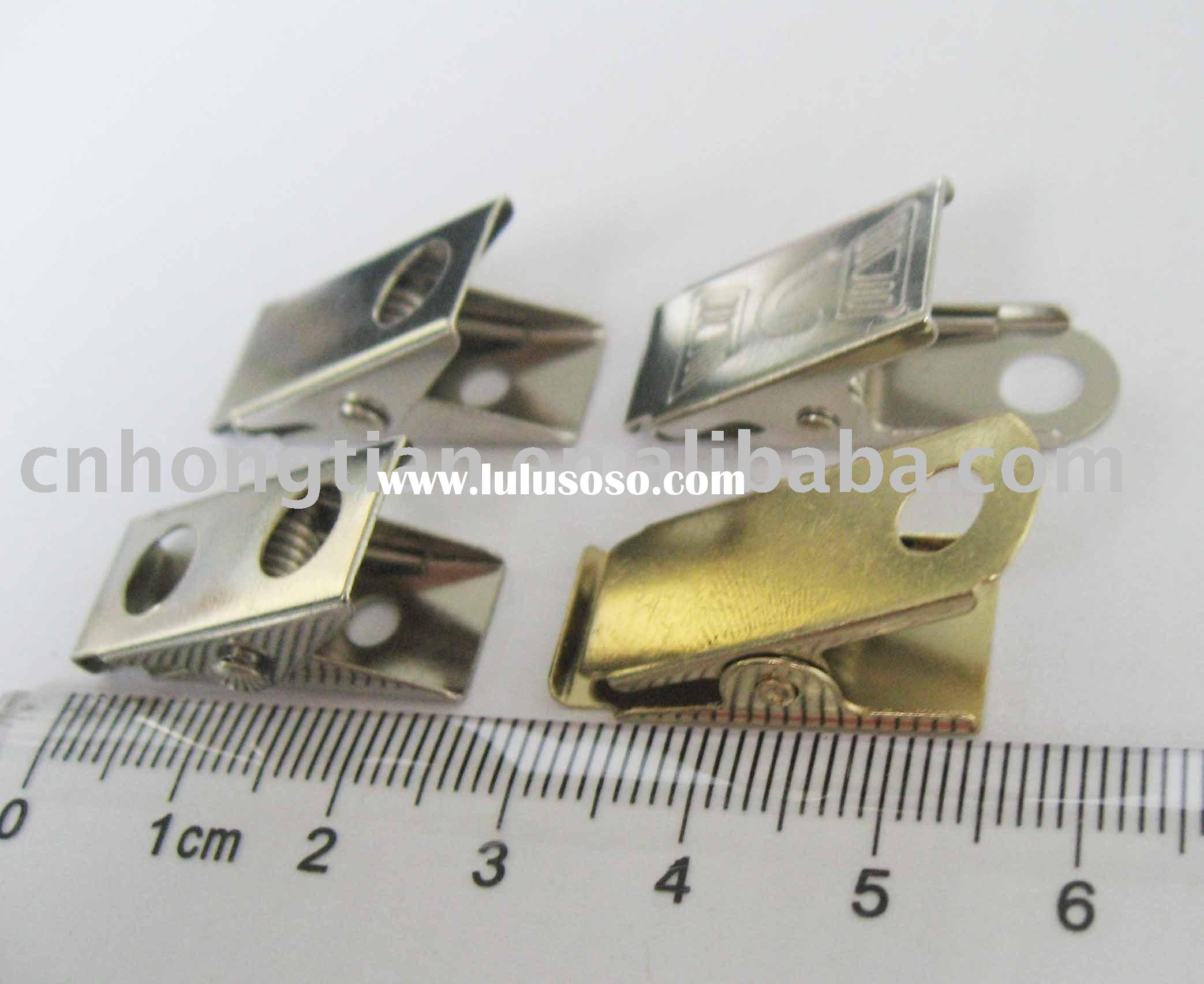 tag holder card clip metal clip
