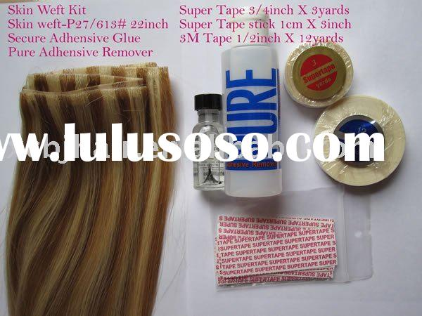 tape on skin weft hair extensions