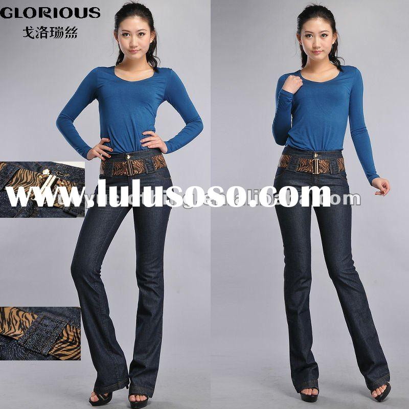 top brand blue flare jeans
