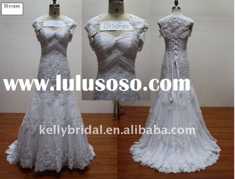 two piece----lace imported from taiwan, lace wedding dress