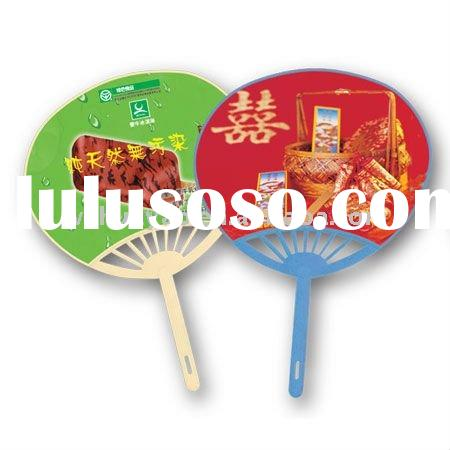 wedding and holiday promotional plastic hand fan