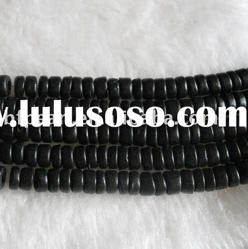 wholesale 5-8mm black round & flat natural loose coral beads