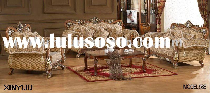 wooden cushion sofa set 588 (1+2+3)