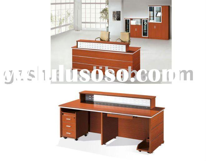 wooden hot sale office reception desk counter
