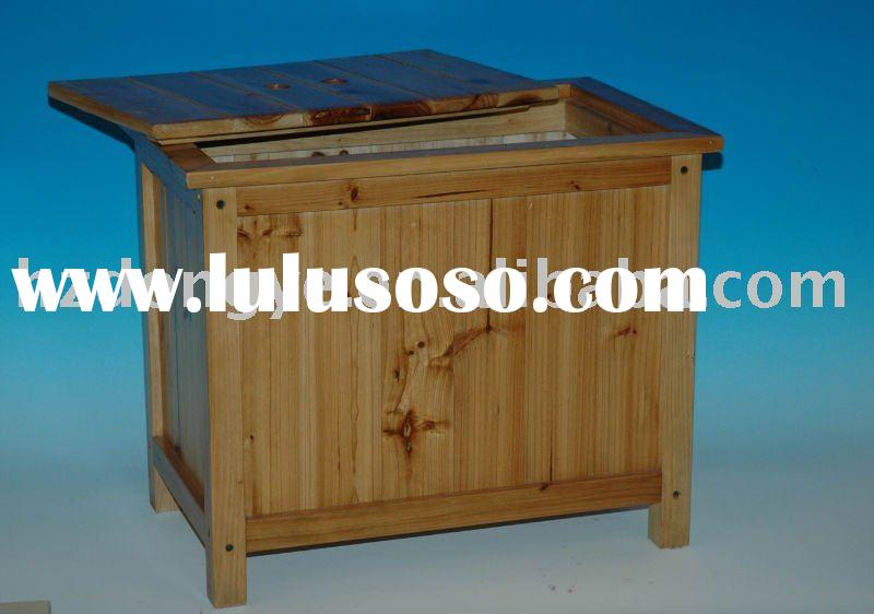 wooden outdoor garden box