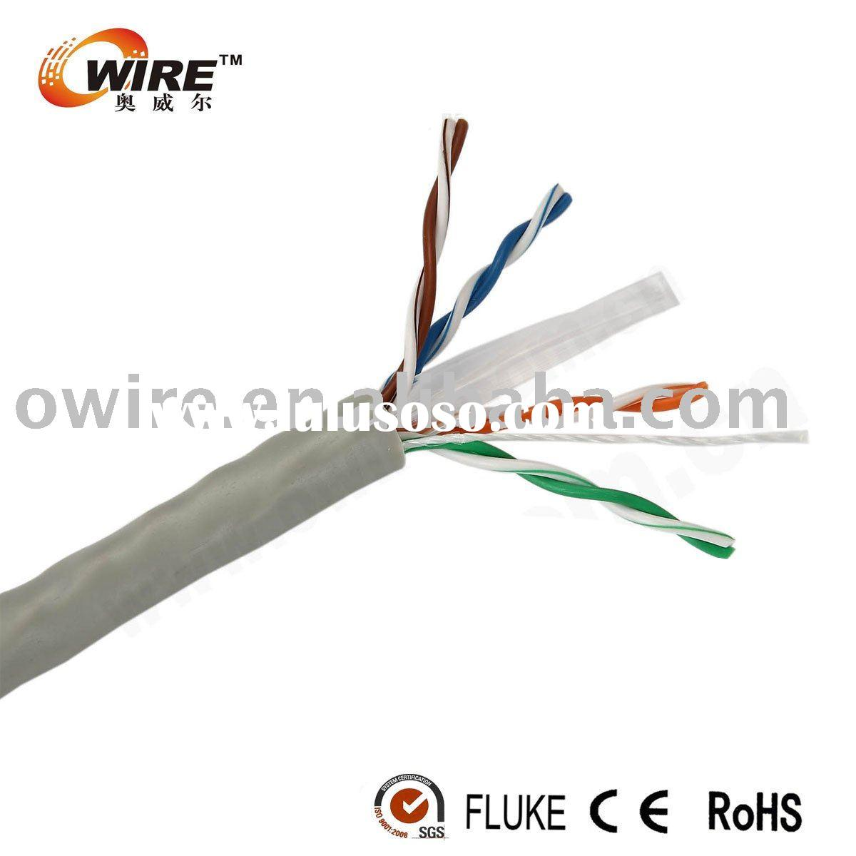 0.56mm Pure copper Cat6 UTP lan cable
