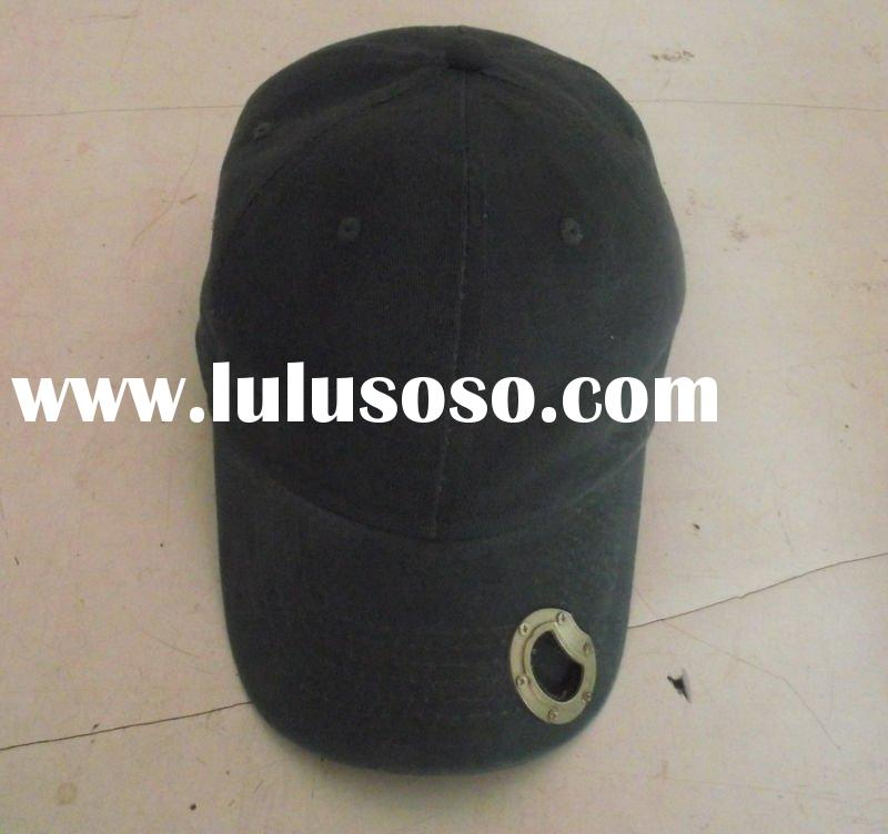 100% cotton baseball cap with opener