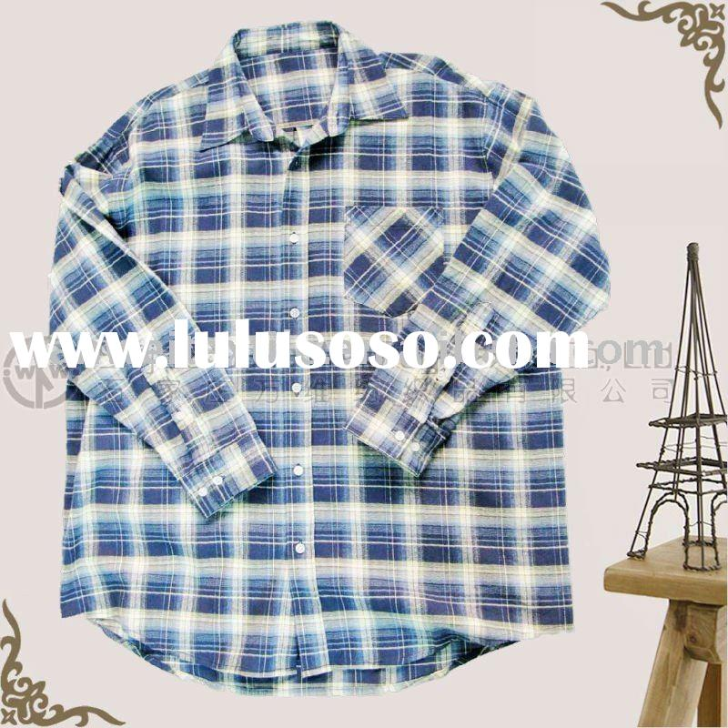 100% cotton woven y/d flannel plaid shirt for man
