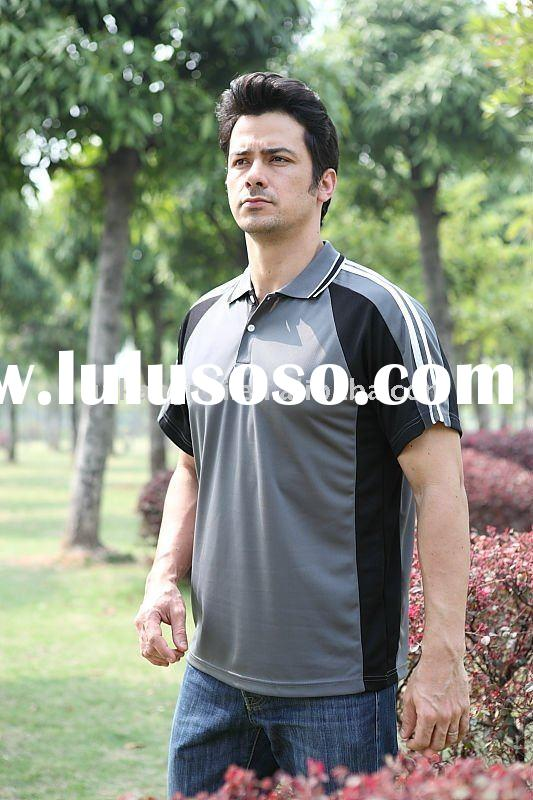 100% polyester quick dry sport polo t-shirt