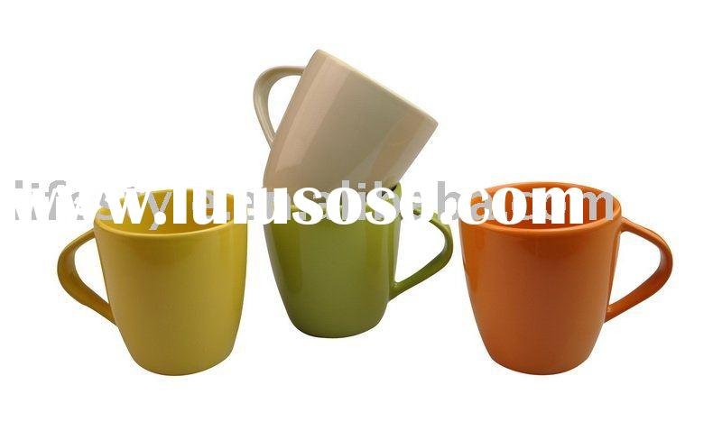 12OZ ceramic coffee mug with different colors