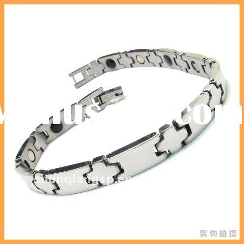 2011 Fashion Italian Sparkling Titanium Bracelet Cheap Kundan Stainless Steel Jewelry