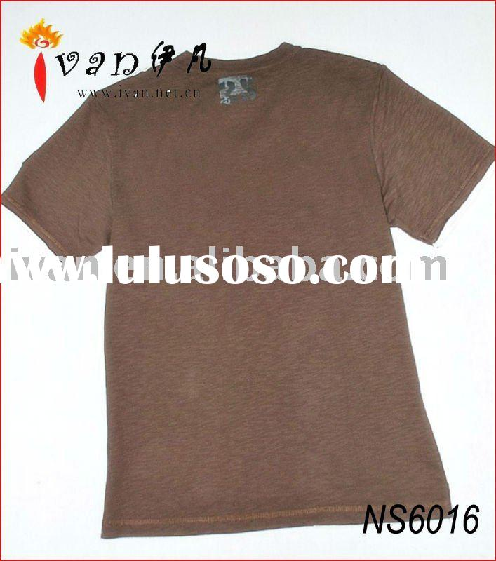 2011 Newest Design 100% Cotton Fashion Blank T shirts Cheap