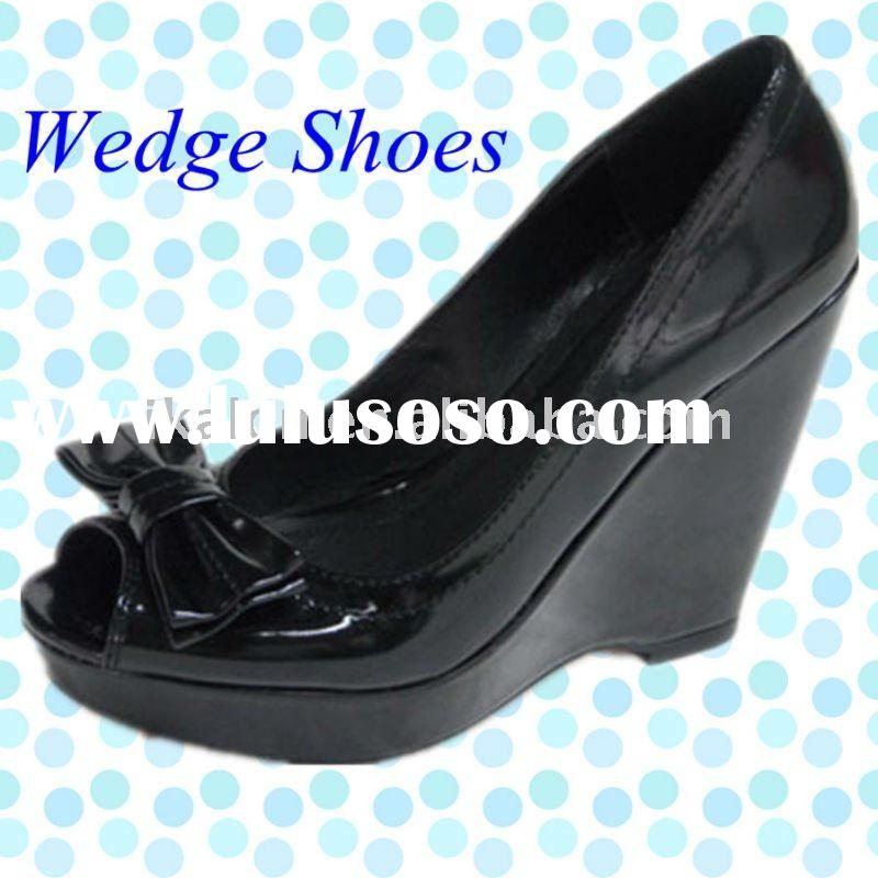2011 Stylish Wedge Shoes for Women with Bow Tie