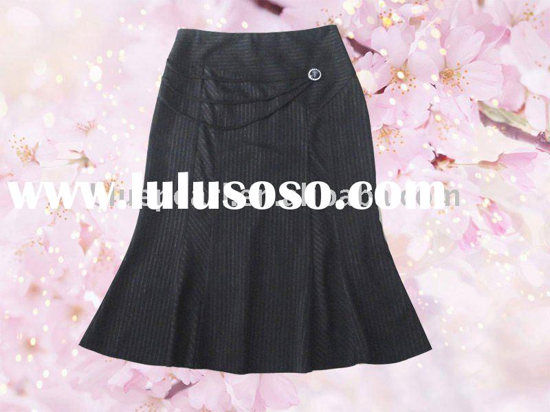 2011 hot sale long fashion skirt for women