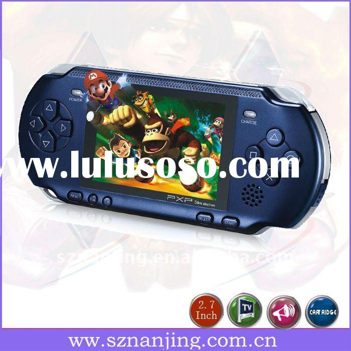 2011 hot sell portable handheld 8-bit game console player available to be connected to TV PXP-2700(B