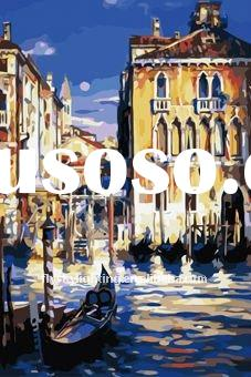 2011 hot selling(40*60cm)Venice diy oil painting,oil painting by number kits ,oil painting by number